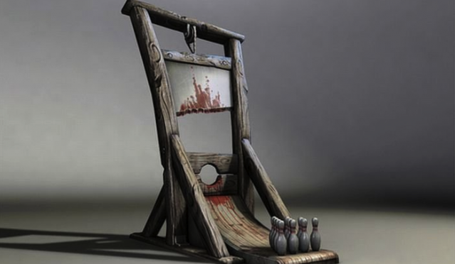 Bowling guillotine