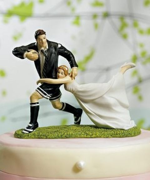 gâteau mariage - placage rugby