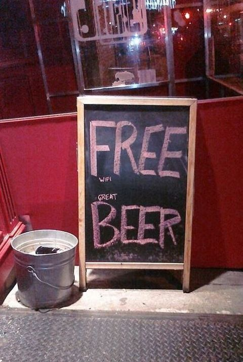 free beer wifi is great