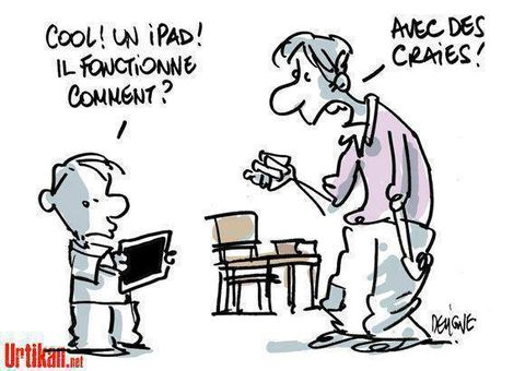 ipad vs ardoise